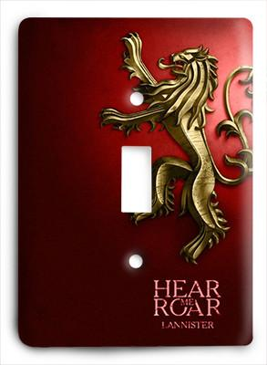 Game Of Thrones Hear Mr Roar Light Switch - Colorful Switches