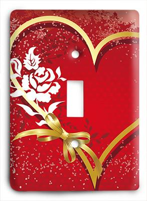 Gold Heart of Love Light Switch - Colorful Switches