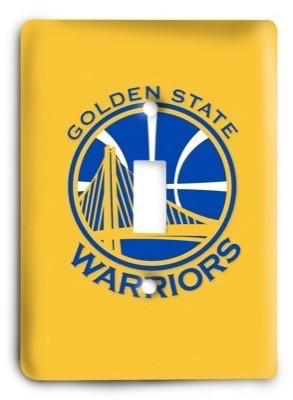 Golden State Warriors NBA 10v Light Switch Cover - Colorful Switches