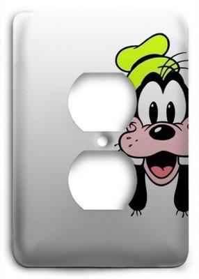 Goofy Disney Happy Outlet Cover - Colorful Switches