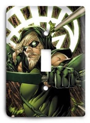 Green Arrow G3 2 Light Switch Cover - Colorful Switches