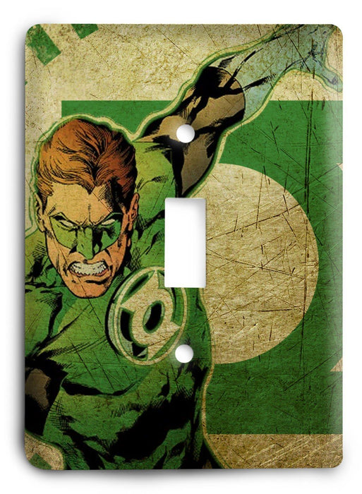 Green Lantern Abstract v1 Light Switch Cover - Colorful Switches