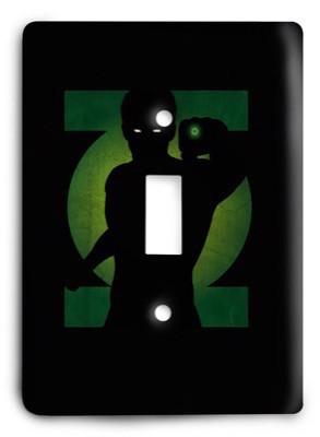 Green Lantern Corps DC Comics G3 12 Light Switch Cover - Colorful Switches