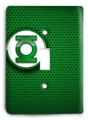 Green Lantern Corps DC Comics G3 13 Light Switch Cover - Colorful Switches