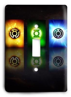 Green Lantern Corps DC Comics G3 1 Light Switch Cover - Colorful Switches