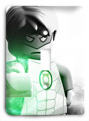 Green Lantern Lego Light Switch - Colorful Switches