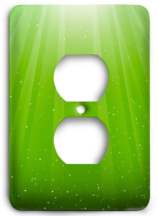 Green Textures Design v13  Outlet Cover - Colorful Switches
