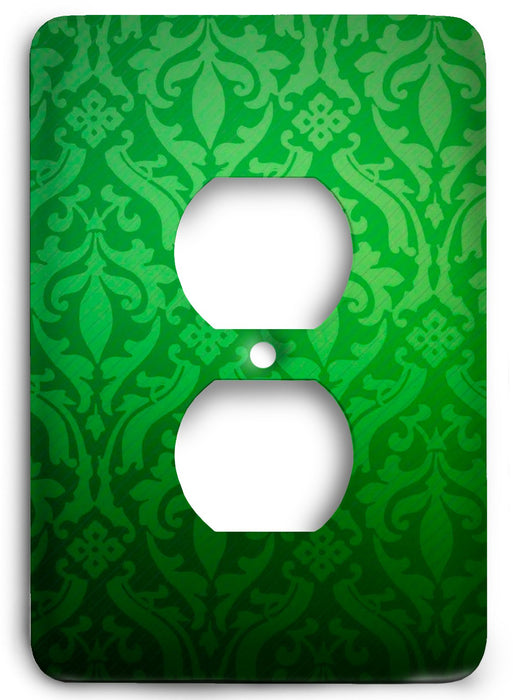 Green Textures Design v15  Outlet Cover - Colorful Switches