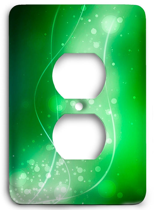 Green Textures Design v18  Outlet Cover - Colorful Switches
