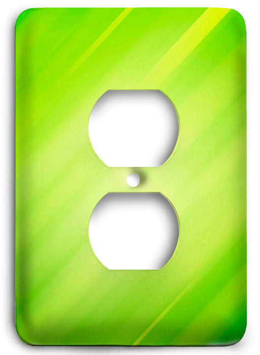 Green Textures Design v21  Outlet Cover - Colorful Switches