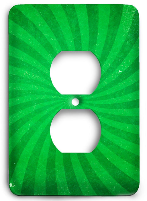 Green Textures Design v24  Outlet Cover - Colorful Switches