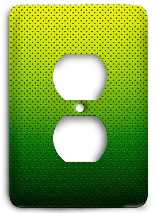 Green Textures Design v32  Outlet Cover - Colorful Switches