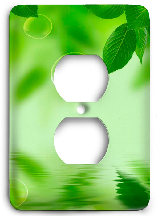 Green Textures Design v34  Outlet Cover - Colorful Switches