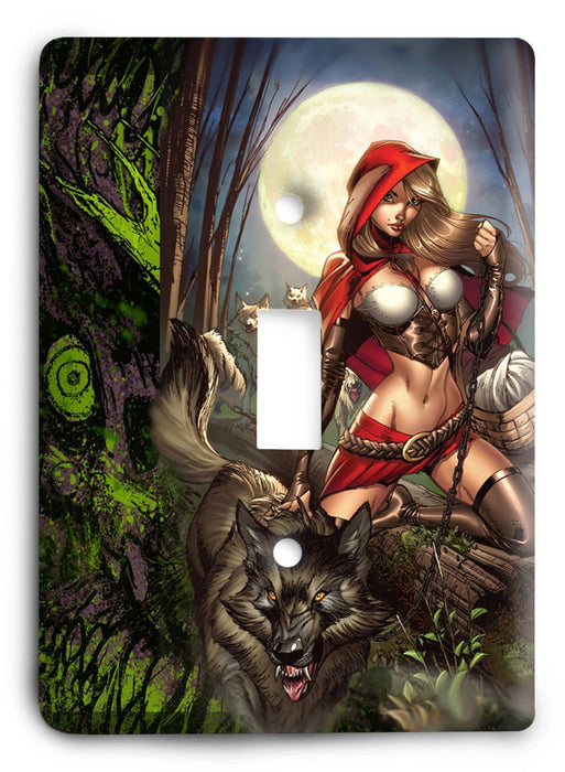 Grimm Fairy Tales Red Riding Hood G5 Light Switch Cover - Colorful Switches