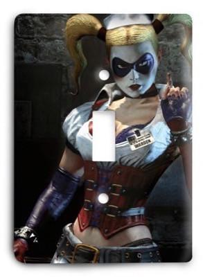 Harley Quinn Joker Batman DC Comics G311 Light Switch Cover - Colorful Switches