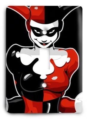Harley Quinn Joker Batman DC Comics G317 Light Switch Cover - Colorful Switches