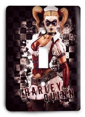 Harley Quinn Joker Batman DC Comics G32 Light Switch Cover - Colorful Switches