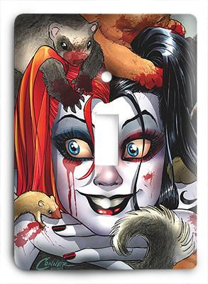 Harley Quinn Little Puppies Light Switch - Colorful Switches