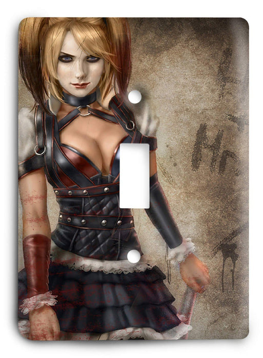 Harley Quinn Wanna Play Light Switch Cover - Colorful Switches