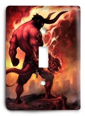 Hellboy Light Switch Cover - Colorful Switches