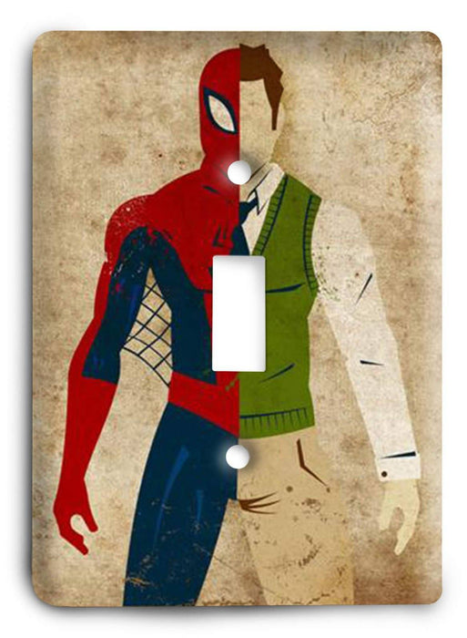 Historic Heroes Spiderman Light Switch Cover - Colorful Switches