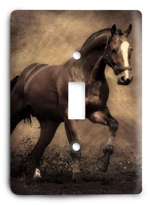 Horse Breed G5v23 Light Switch Cover - Colorful Switches