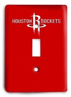 Houston Rockets NBA 3 Light Switch Cover - Colorful Switches