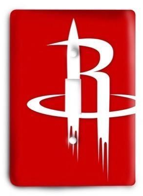 Houston Rockets NBA 4 Light Switch Cover - Colorful Switches