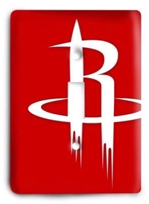 Houston Rockets NBA 4v Light Switch Cover - Colorful Switches