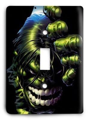 Hulk BOLD Marvel Comics G3 Light Switch Cover - Colorful Switches