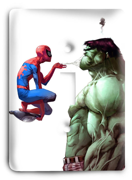 Hulk and Spiderman Make Nice Light Switch Cover - Colorful Switches