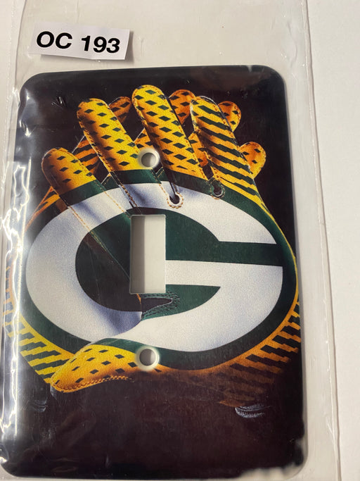 Green Bay Packers gloves  Light Switch Cover - Clearance Special - Colorful Switches