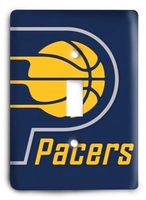 Indiana Pacers NBA 8v Light Switch Cover - Colorful Switches