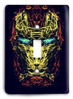 Iron Man v5 Light Switch Cover - Colorful Switches
