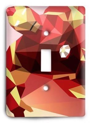 Iron Man v6 Light Switch Cover - Colorful Switches
