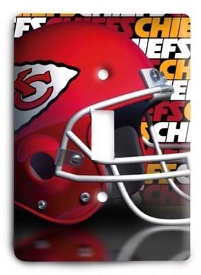 Kansas City Chiefs 20 Light Switch Cover - Colorful Switches