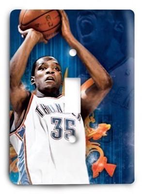 Kevin Durant Oklahoma City OKC Thunder NBA 1 Light Switch Cover - Colorful Switches