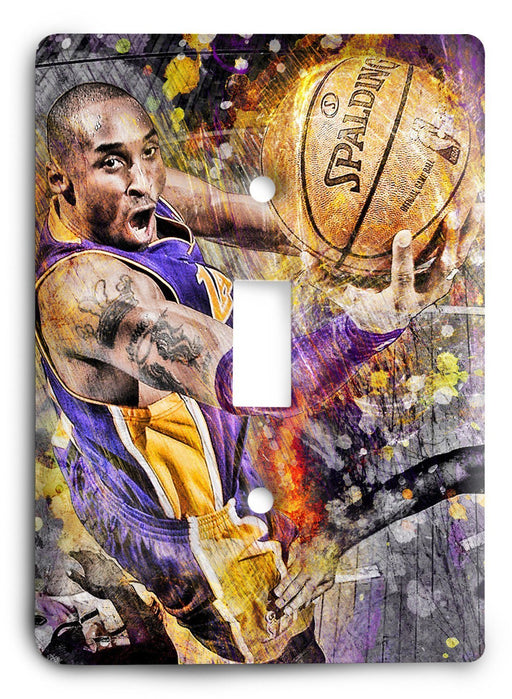 Kobe Bryant Lakers NBA Legend Light Switch Cover - Colorful Switches