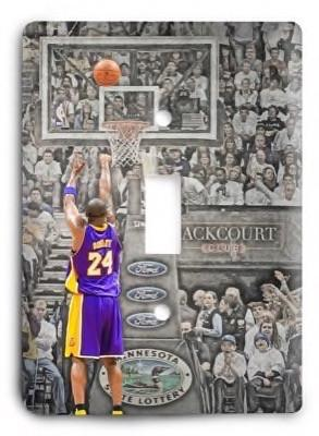 Kobe Bryant Los Angeles Lakers 10v Light Switch Cover - Colorful Switches