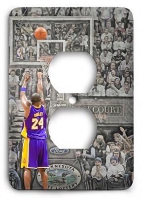 Kobe Bryant Los Angeles Lakers 10v Outlet Cover - Colorful Switches