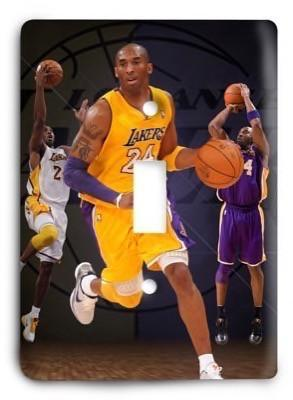 Kobe Bryant Los Angeles Lakers NBA 02v Light Switch Cover - Colorful Switches