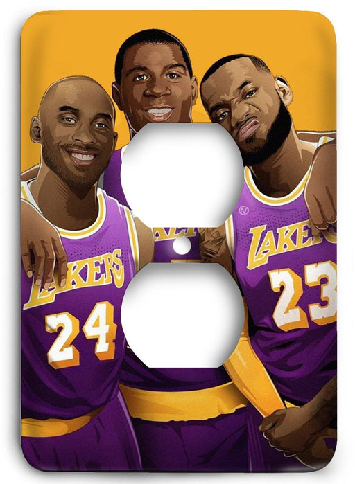 LA Lakers  v18 Outlet Cover - Colorful Switches