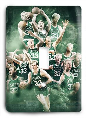 Larry Bird Celtics Light Switch - Colorful Switches
