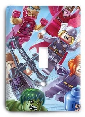 Lego Avengers Light Switch Cover - Colorful Switches