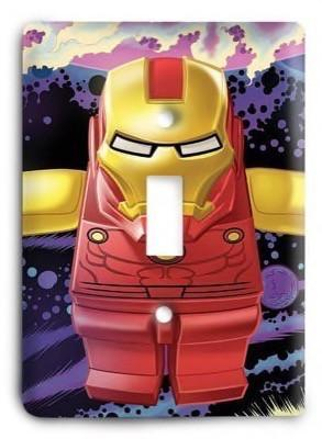 Lego Iron Man Light Switch Cover - Colorful Switches