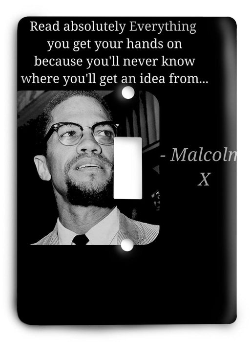 Malcolm X - Read Everything Light Switch Cover - Colorful Switches
