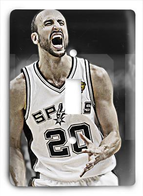 Manu Ginobili Spurs The Champ Light Switch - Colorful Switches
