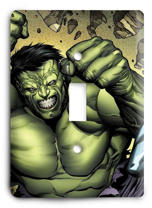 Marvel Team Up Hulk Spiderman Deadpool Light Switch Cover - Colorful Switches