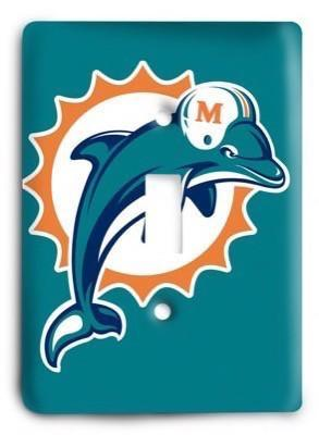 Miami Dolphins 12 Light Switch Cover - Colorful Switches