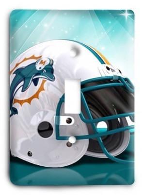 Miami Dolphins 8 Light Switch Cover - Colorful Switches